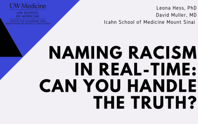 NAMING RACISM IN REAL-TIME: CAN YOU HANDLE THE TRUTH?