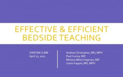 TIPS FOR EFFICIENT & EFFECTIVE BEDSIDE TEACHING