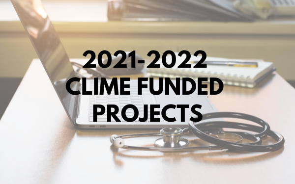 2021-2022 CLIME FUNDED PROJECTS