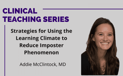 Strategies for Using the Learning Climate to Reduce Imposter Phenomenon