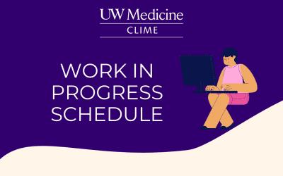 2021-2022 Work in Progress Schedule
